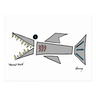 Abstract Shark Postcard
