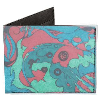 Abstract Sharpie Doodle Tyvek Billfold Wallet