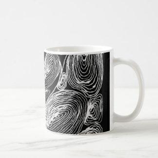 abstract shell stone coffee mug