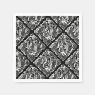 abstract shell stone disposable serviette
