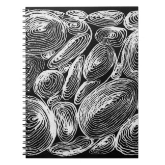abstract shell stone notebook
