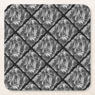 abstract shell stone square paper coaster