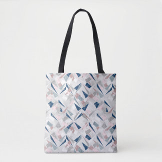 Abstract Shimmer Winter Pattern Tote Bag