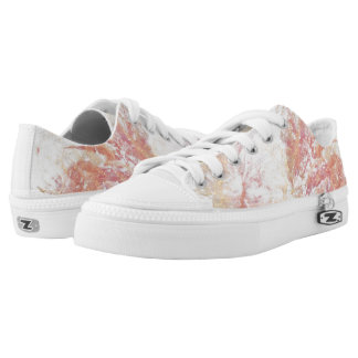 Abstract shiny background printed shoes