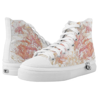 Abstract shiny colors printed shoes