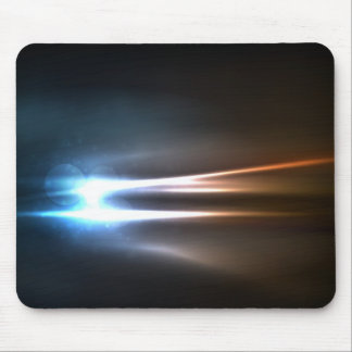 Abstract Shiny Energy Rays Mouse Pad