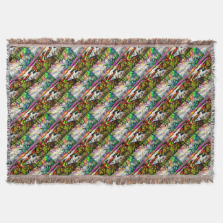 Abstract shore throw blanket