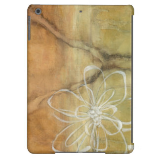 Abstract Silhouette Painting on Tan Background iPad Air Covers