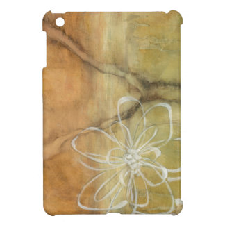 Abstract Silhouette Painting on Tan Background iPad Mini Cases