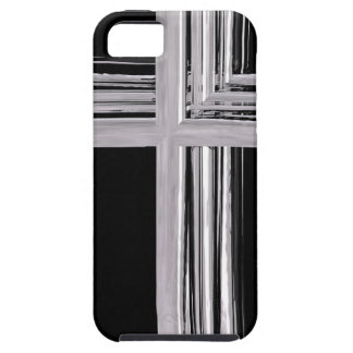 Abstract Silver Christian Cross Case For The iPhone 5