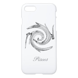 Abstract Silver Pisces Zodiac iPhone 8/7 Case