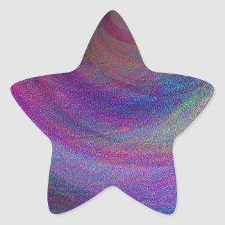 Abstract Simulated Metallic Paint Star Sticker
