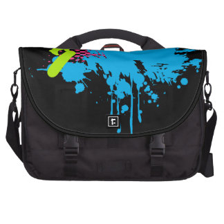 Abstract skateboarding bag for laptop