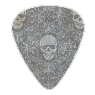 Abstract Skeleton Background Pearl Celluloid Guitar Pick