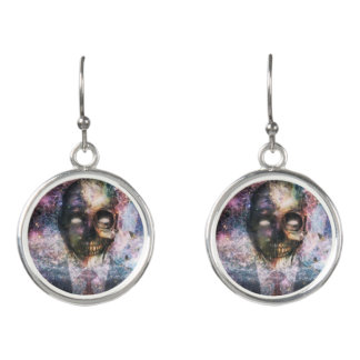 Abstract Skull Fantasy Earrings