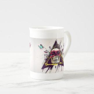 Abstract skull.Modern skull Tea Cup