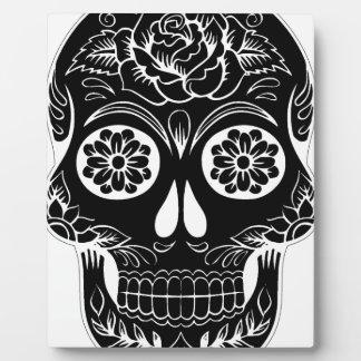 Abstract Skull Plaque