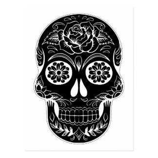 Abstract Skull Postcard