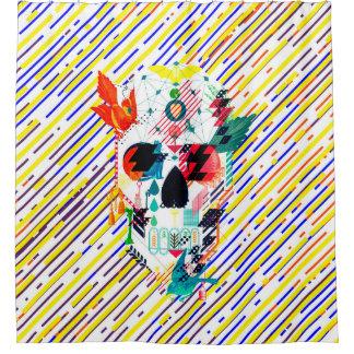Abstract Skull Shower Curtain