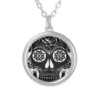 Abstract Skull Silver Plated Necklace