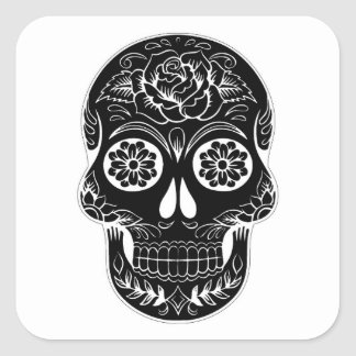 Abstract Skull Square Sticker