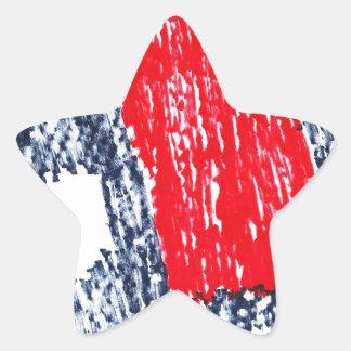 Abstract Skull Star Sticker