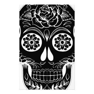 Abstract Skull Stationery