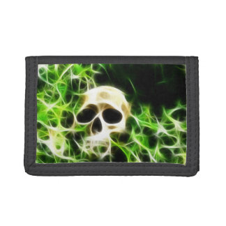 Abstract skull trifold wallets