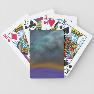 Abstract sky bicycle playing cards