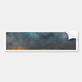 Abstract sky bumper sticker
