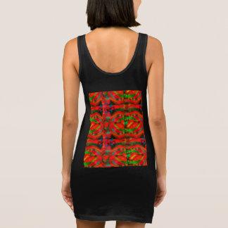 Abstract Sleeveless Dress