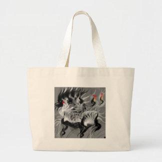 Abstract Small Dog Jumbo Tote Bag