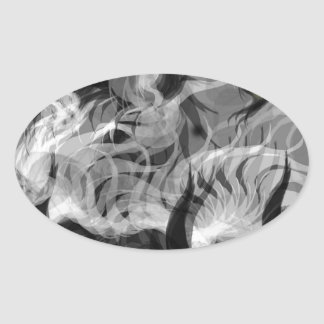 Abstract Small Dog Oval Sticker