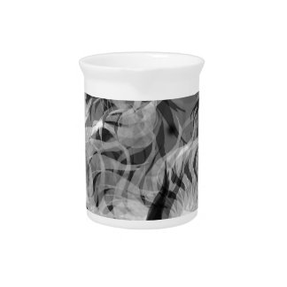 Abstract Small Dog Pitcher