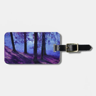 Abstract Small Forest Pond Luggage Tag