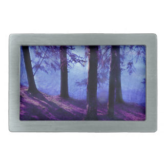 Abstract Small Forest Pond Rectangular Belt Buckle