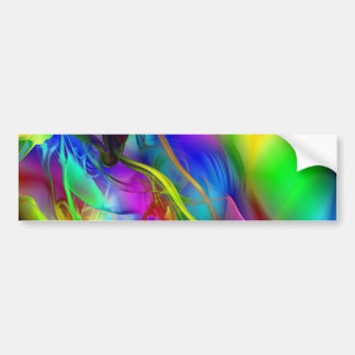 Abstract Smoke Art Bumper Stickers