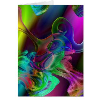 Abstract Smoke Art Card