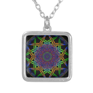 Abstract Smoke Design Silver Plated Necklace