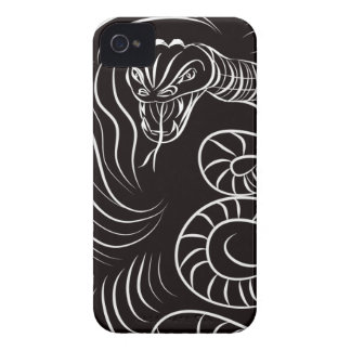 Abstract Snake Art Blackberry Bold  Case iPhone 4 Covers