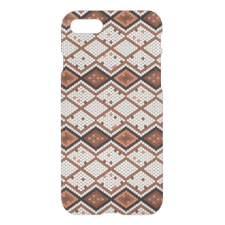 Abstract Snake-Skin Pattern in Brown & White iPhone 8/7 Case