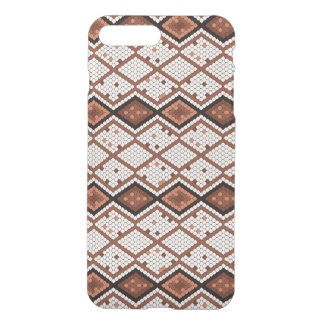 Abstract Snake-Skin Pattern in Brown & White iPhone 8 Plus/7 Plus Case