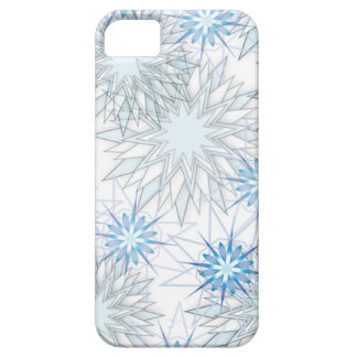 Abstract Snowflake Blue and White iPhone 5 case