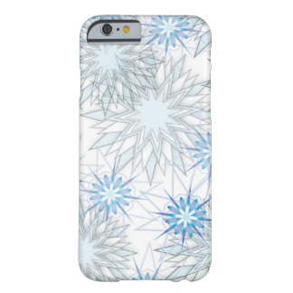 Abstract Snowflake Blue and White iPhone 6 case Barely There iPhone 6 Case