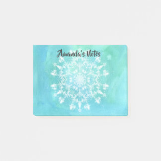 Abstract Snowflake Post-it Notes