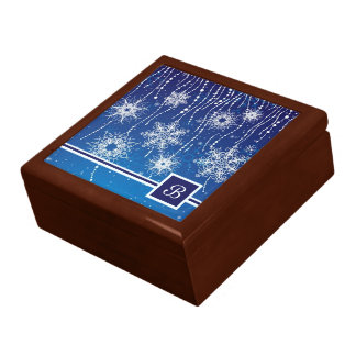 Abstract Snowflakes Gift Box