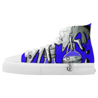 Abstract Soda Explosion Printed Shoes