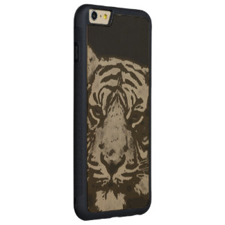 Abstract Sofia Tiger Carved® Maple iPhone 6 Plus Bumper Case