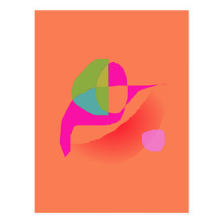 Abstract Soft Orange Postcard