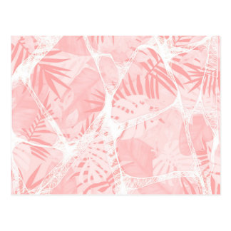 Abstract Soft Pink Tropical Design Postcard